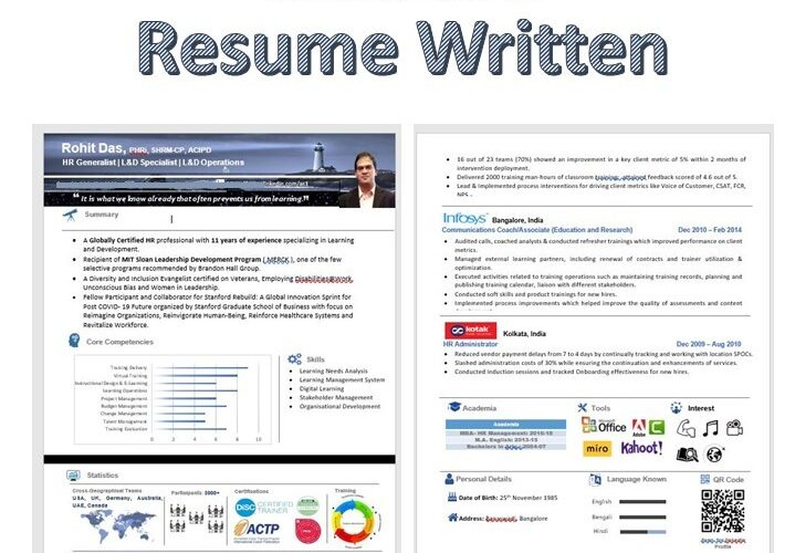 how is a resume written